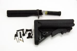 BKF AR15 MOD-1 Lower Build Kit (LPK) W/ Combat Control Kit in Nitride Minus FCG (BKF Sopmod)