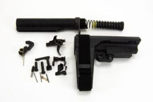 BKF AR15 MOD-1 Lower Pistol Build Kit (LPK) W/ Combat Control Kit in Nitride (SB Tactical SBA3)