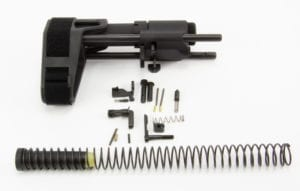 AR15 SB Tactical SBPDW Brace Assembly W/ LPK Minus FCG/Trigger Guard/Pistol Grip