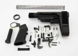 BKF AR15 Enhanced Lower Build Kit W/ SBA3