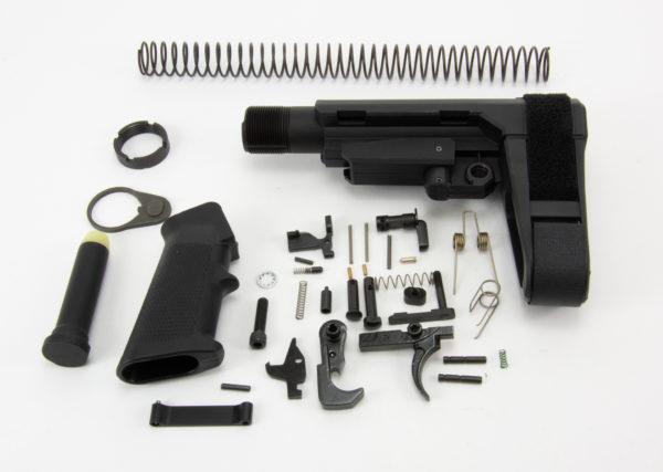 BKF AR15 Enhanced Lower Build Kit W/ SBA3