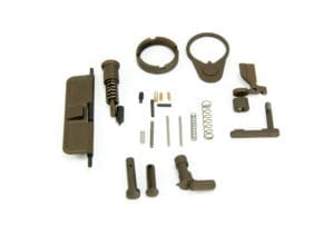 BKF AR15 Cerakoted Lower Parts Kit (LPK) Minus FCG Accent Kit - Midnight Bronze