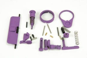 BKF AR15 Cerakoted Lower Parts Kit (LPK) Minus FCG Accent Kit - Purple