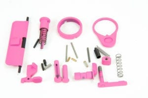 BKF AR15 Cerakoted Lower Parts Kit (LPK) Minus FCG Accent Kit - Pink