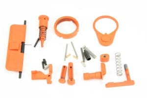 BKF AR15 Cerakoted Lower Parts Kit (LPK) Minus FCG Accent Kit - Orange
