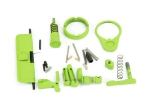 BKF AR15 Cerakoted Lower Parts Kit (LPK) Minus FCG Accent Kit - Zombie Green