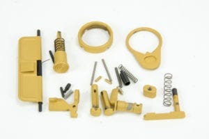 BKF AR15 Cerakoted Lower Parts Kit (LPK) Minus FCG Accent Kit - Gold