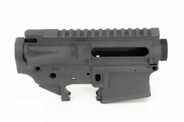 BKF AR15 Stripped Cerakoted Receiver Set - Sniper Grey