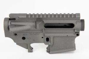 BKF AR15 Stripped Cerakoted Receiver Set - Tungsten