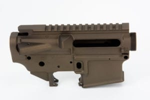 BKF AR15 Stripped Cerakoted Receiver Set - Midnight Bronze