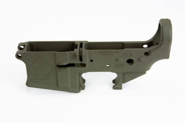 BKF AR15 Stripped Lower Receiver - OD Green Cerakote