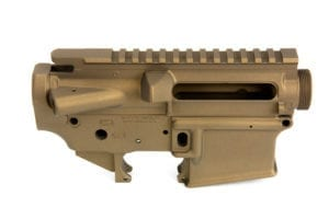 BKF AR15 Stripped Cerakoted Receiver Set - Burnt Bronze