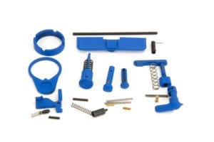 BKF AR15 Cerakoted Lower Parts Kit (LPK) Minus FCG Accent Kit - NRA Blue