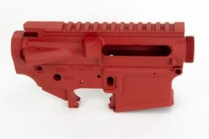 BKF AR15 Stripped Cerakoted Receiver Set - S&W Red Cerakote