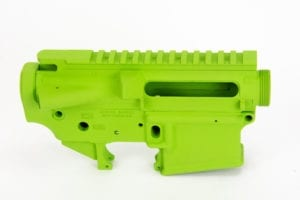 BKF AR15 Stripped Cerakoted Receiver Set - Zombie Green Cerakote