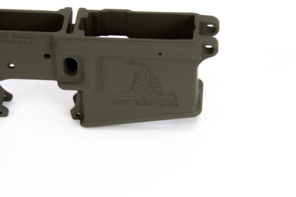 BKF AR15 DTOM Stripped Lower Receiver - OD Green Cerakote