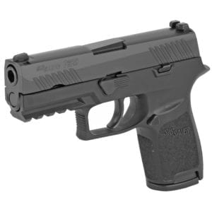 """Sig Sauer, P320 Compact, Striker Fired, 9MM, 3.9"""" Barrel, Polymer Frame, Black Finish, Fixed Sights, 15Rd, 2 Magazines"""