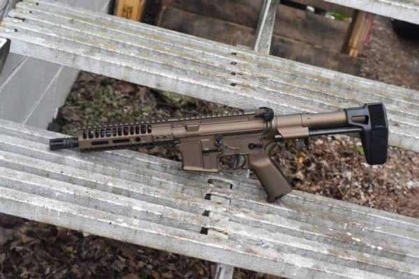"BKF M4 MOD-1 AR15 8"" 1/7 Twist 300 Blackout PDW Cerakoted Pistol - Midnight Bronze"