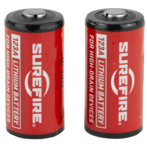 Surefire Battery, CR123A Lithium, 2 Pack, Red